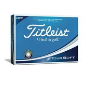 Painettu Titleist TourSoft 3 tusinaa
