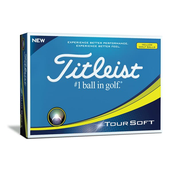 Painettu Titleist TourSoft Yellow Pallotusina